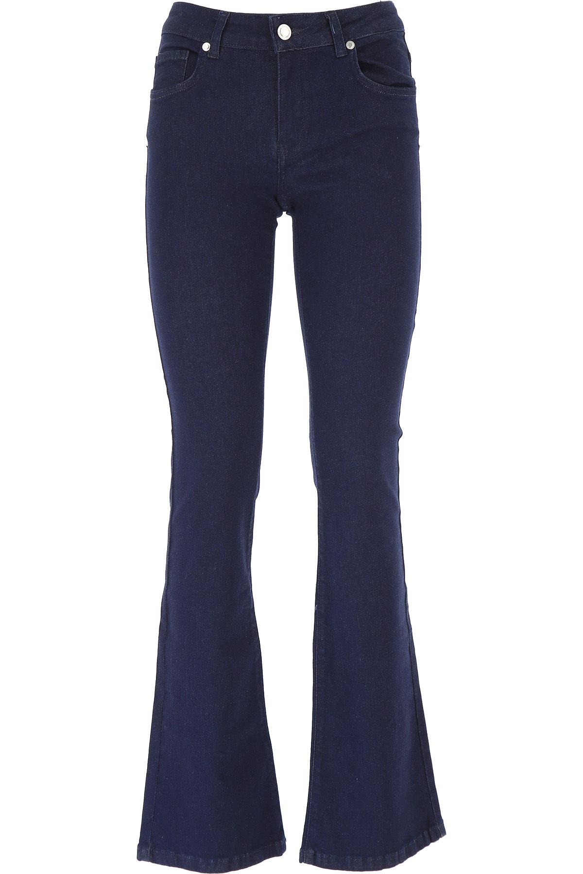 Silvian Heach Jeans On Sale, Dark Blue, Cotton, 2019, 25 26 28 29 30