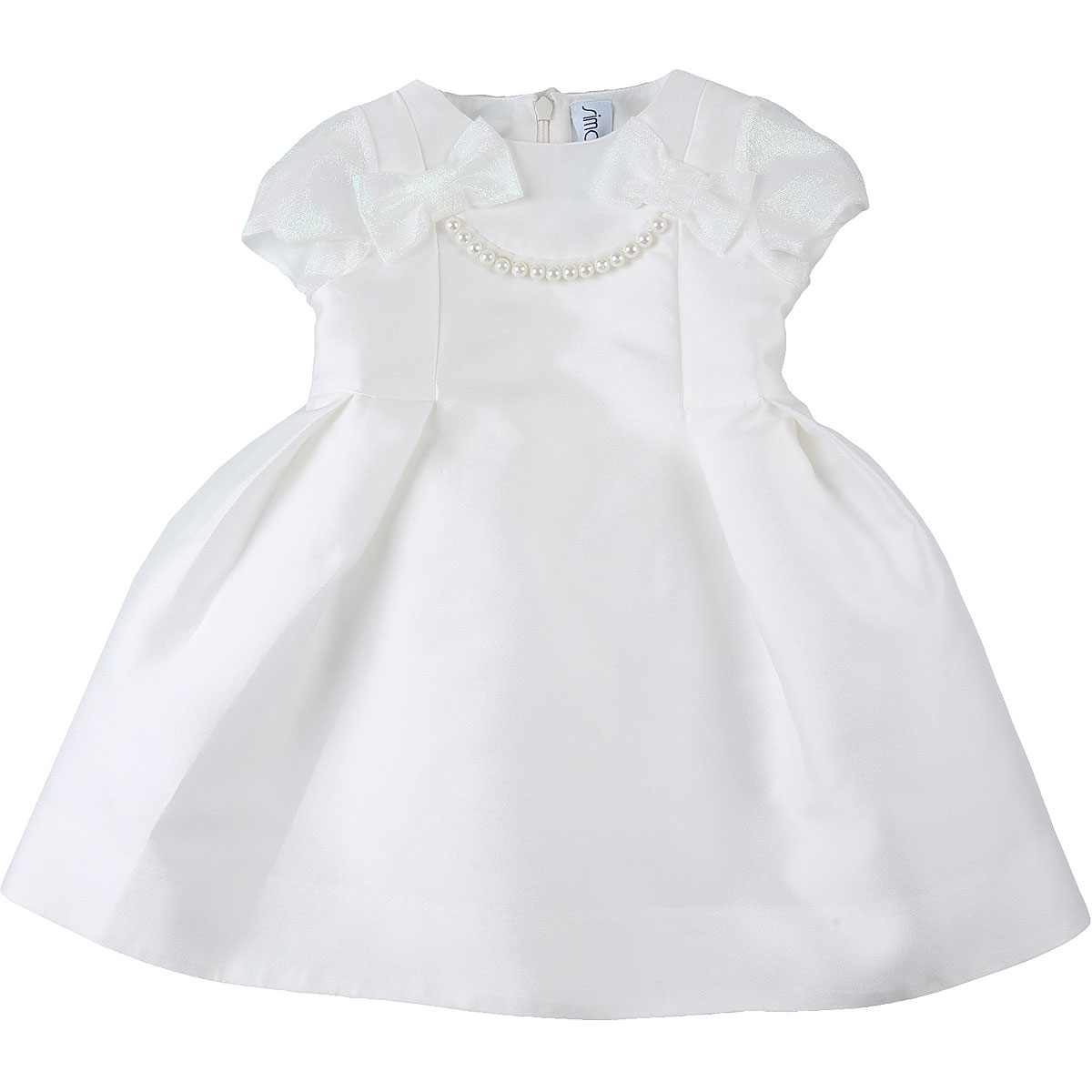 Simonetta Baby Dress for Girls On Sale, White, polyester, 2019, 2Y 3Y