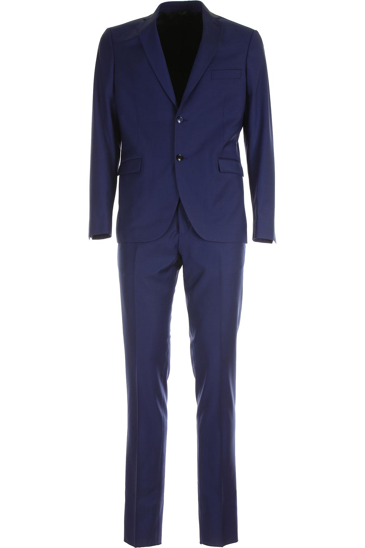 Simbols Men's Suit On Sale, Blue Grey, Pes, 2019, L M S XL XXL XXXL