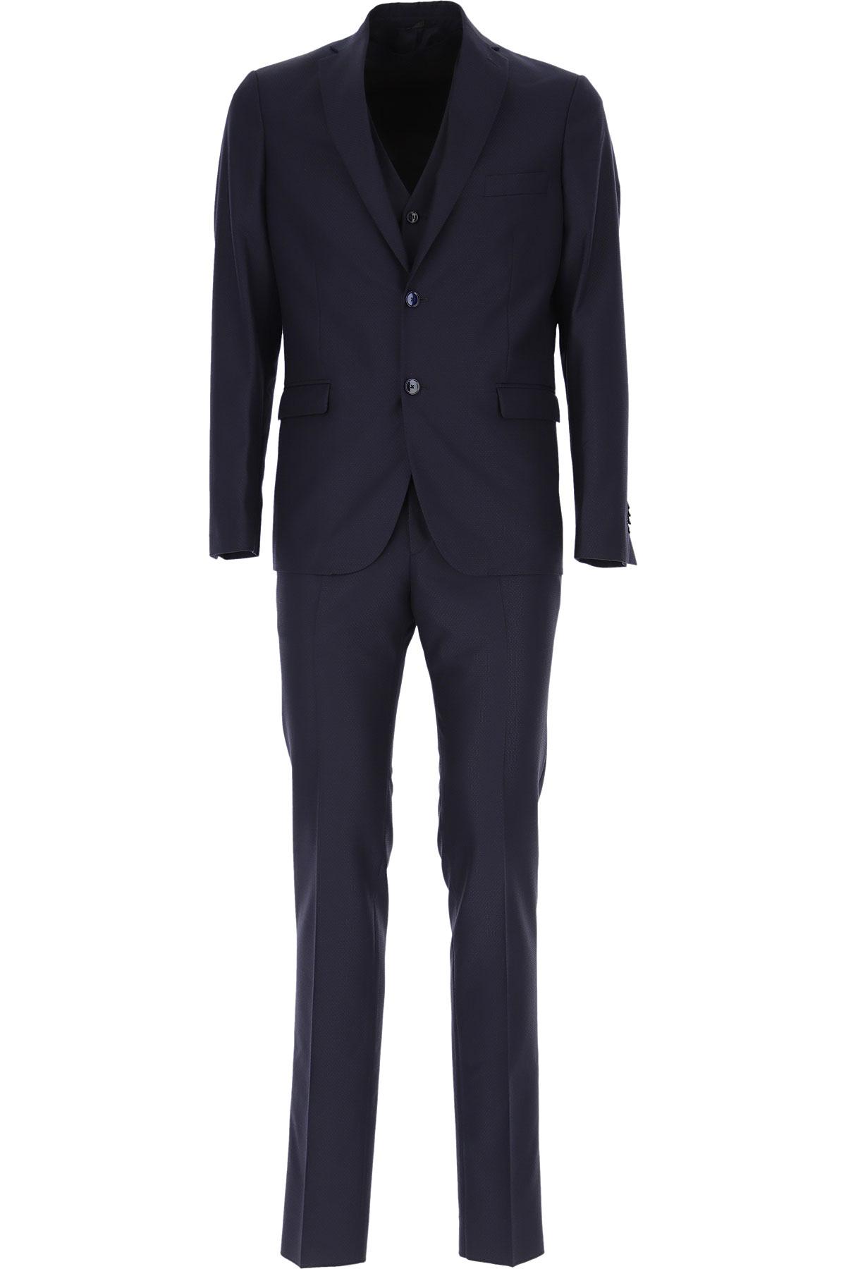 Simbols Men's Suit On Sale, Navy Blue, polyester, 2019, L M S XL XXL XXXL