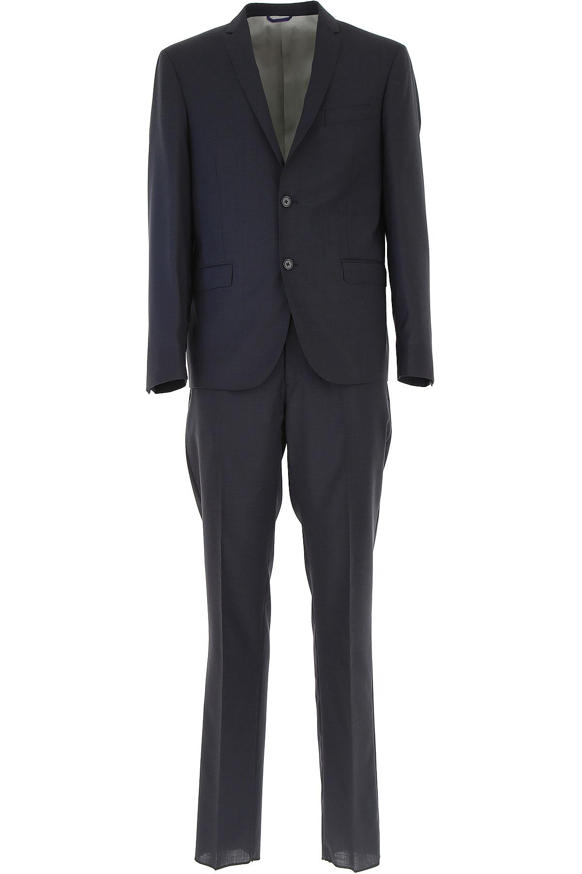 Simbols Men's Suit, Midnight Blue, Wool, 2019, XXL XXXL