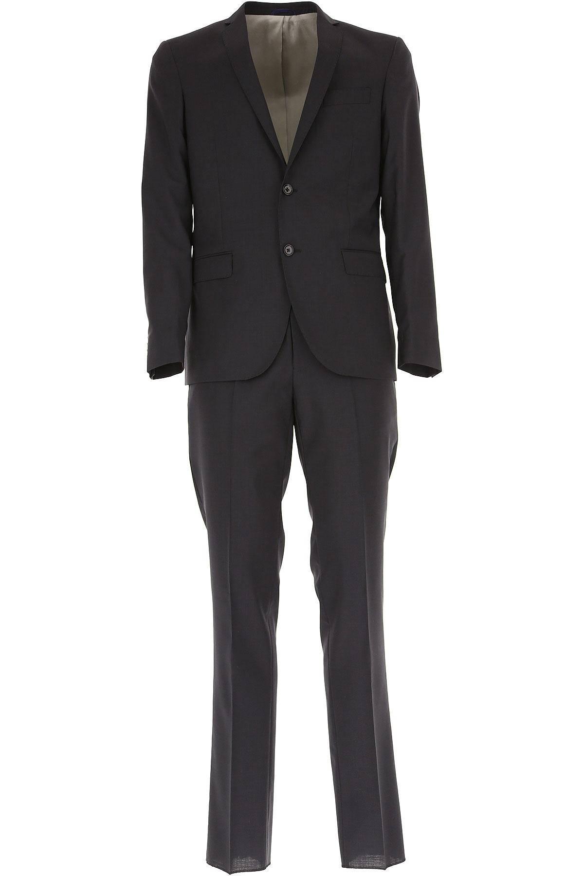 Simbols Men's Suit On Sale, Blue, Wool, 2019, L M S XL XXL XXXL