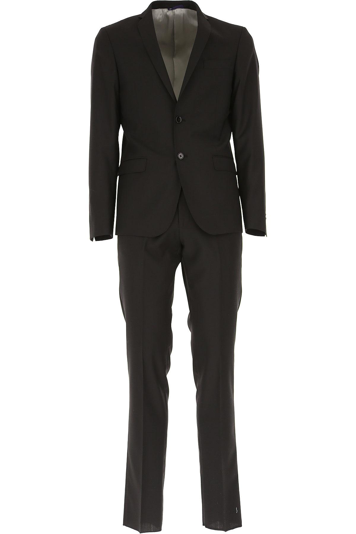 Simbols Men's Suit, Black, Wool, 2019, L M
