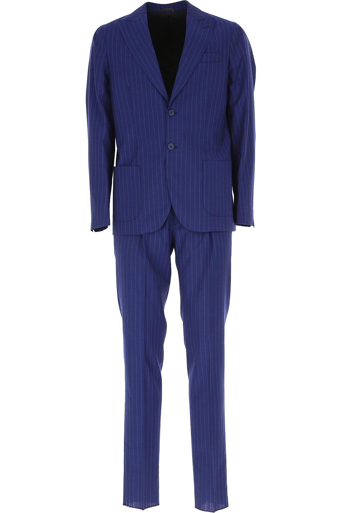 Simbols Men's Suit, Blue, Wool, 2019, L XL