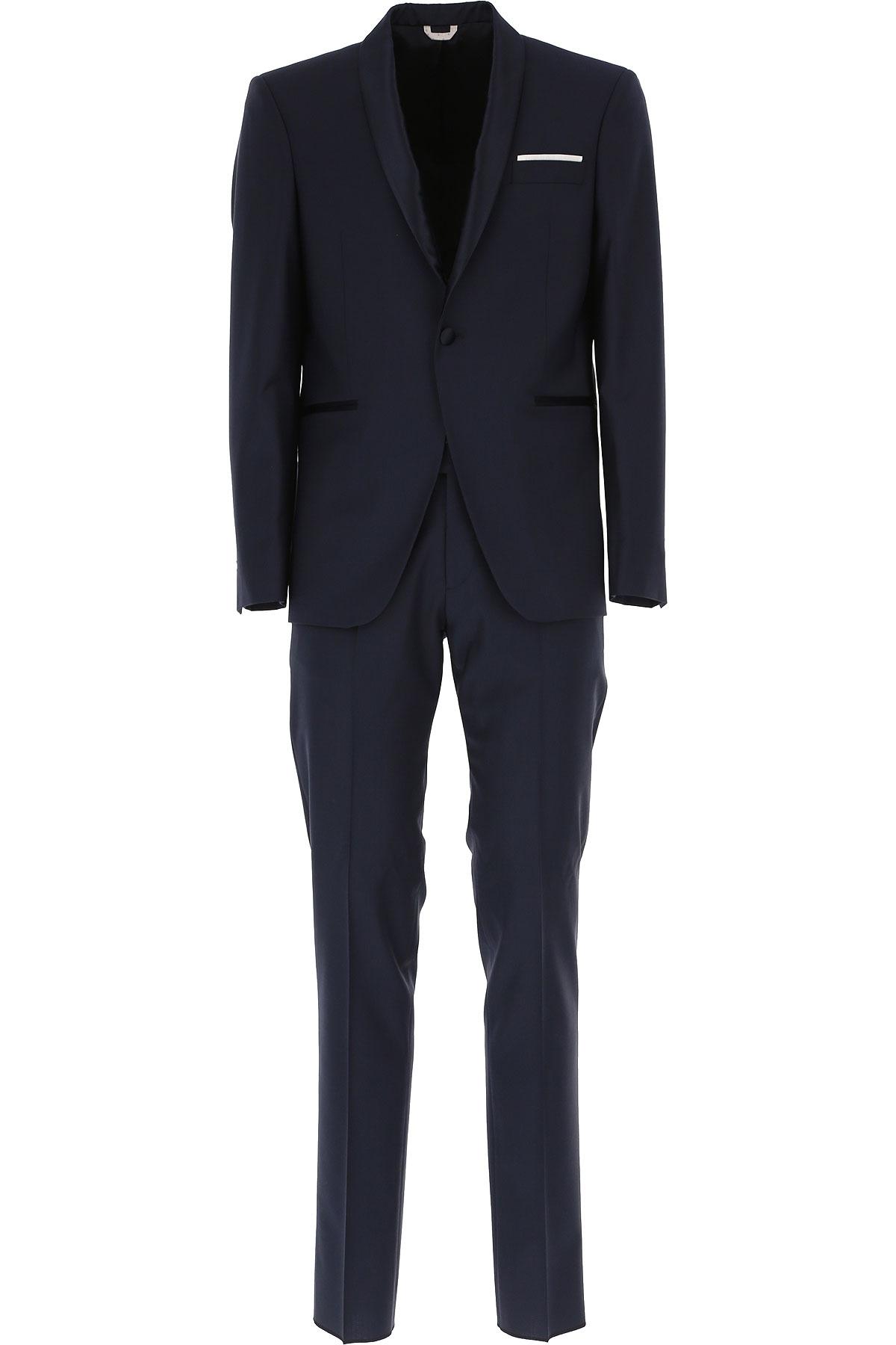 Simbols Costume Homme Pas cher en Soldes, Bleu foncé, Polyester, 2019, L XL