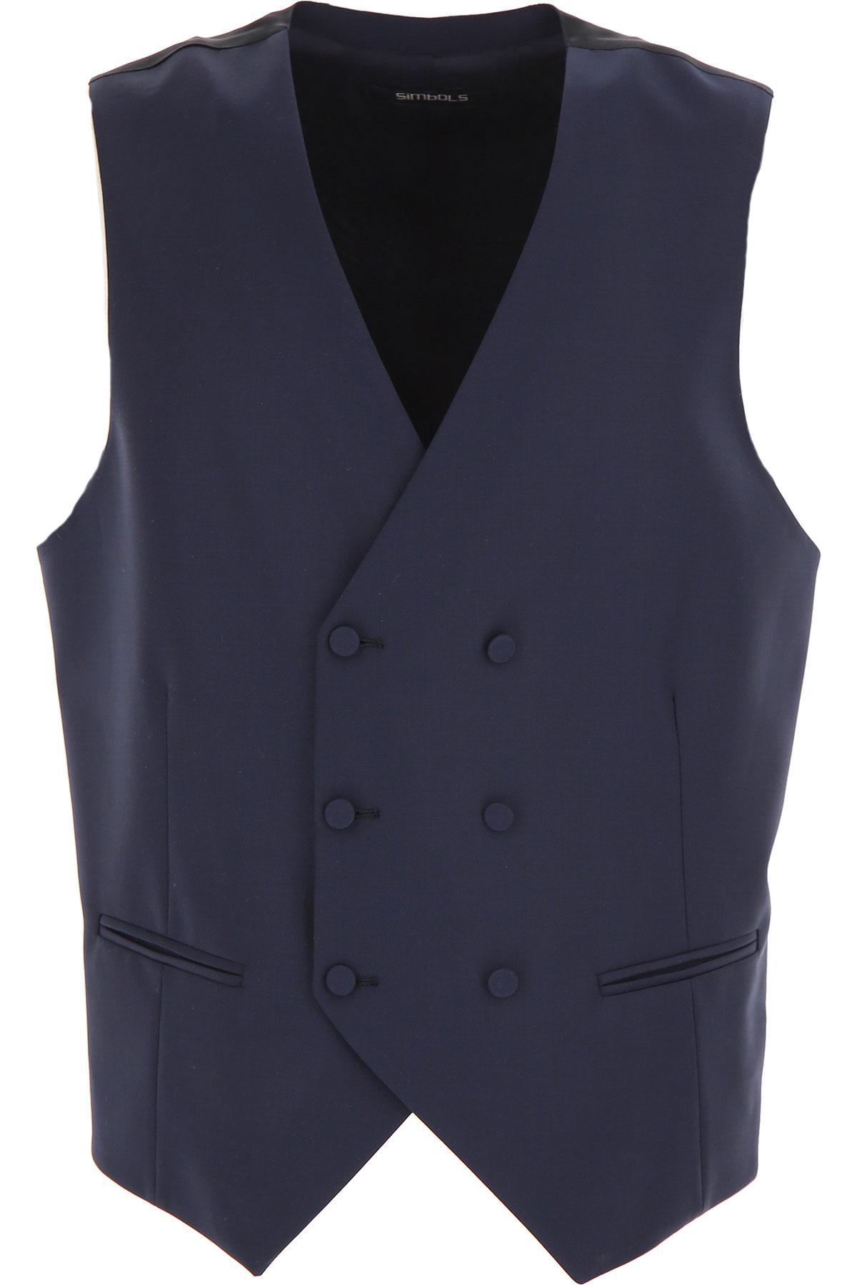 Simbols Mens Clothing, Dark Navy Blue, polyester, 2019, L S XL