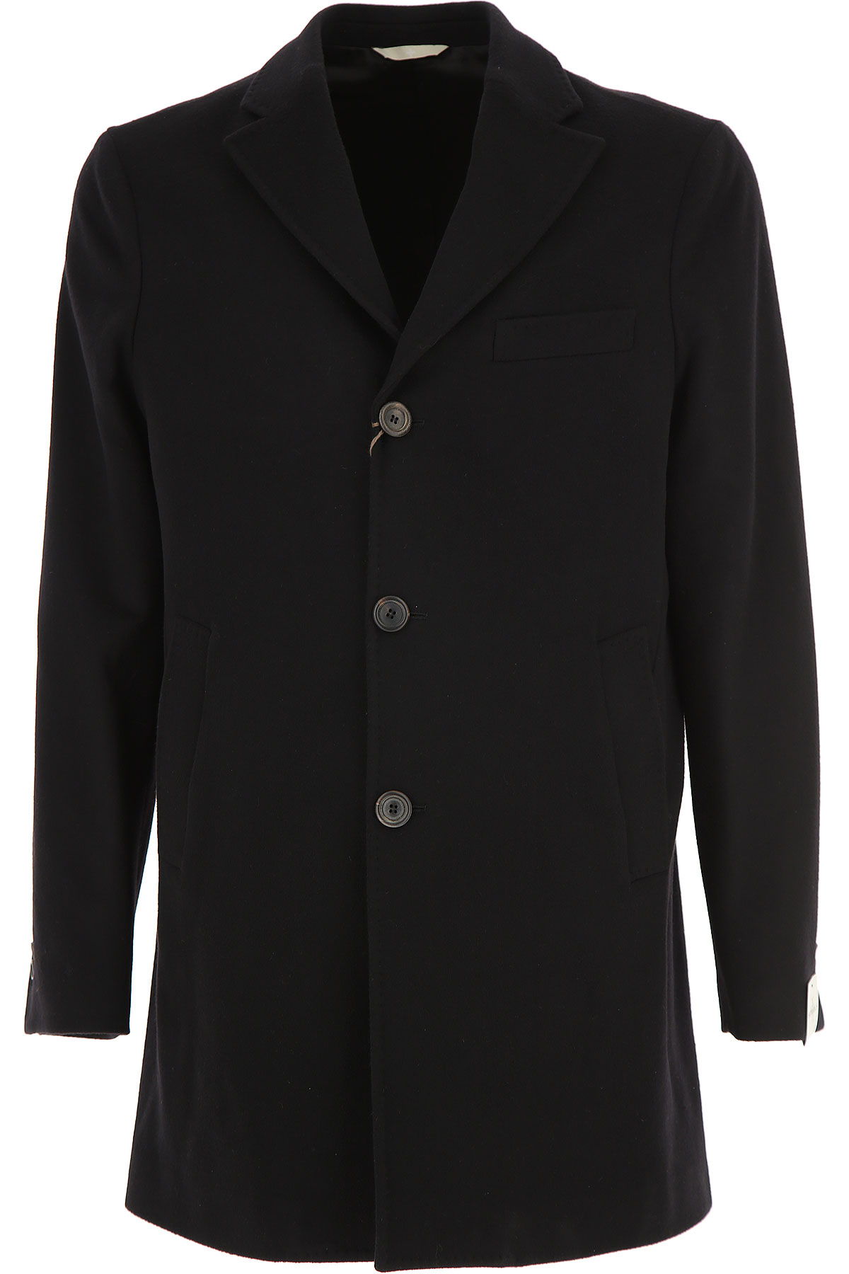 Image of Simbols Men\'s Coat, Black, Wool, 2017, L S XL XXL