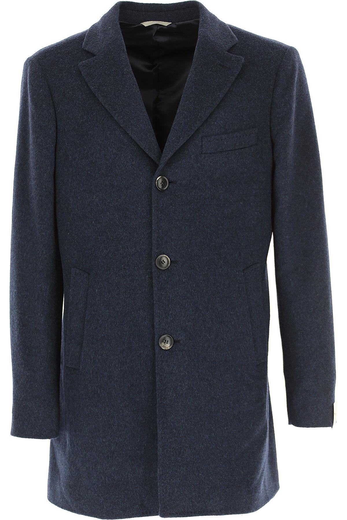 Simbols Men's Coat, Midnight Blue, Wool, 2019, L M S