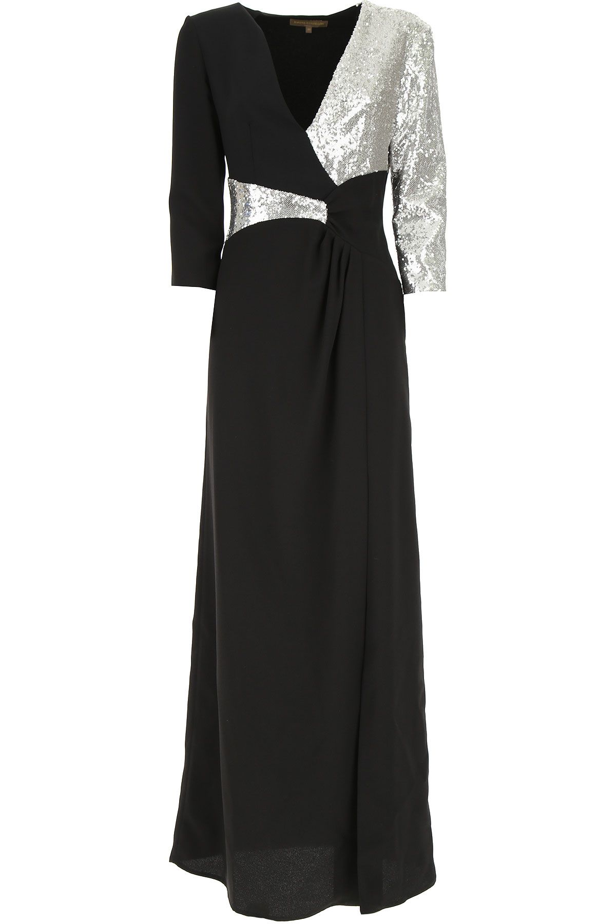 Simona Corsellini Dress for Women, Evening Cocktail Party On Sale, Black, polyestere, 2019, 2 6