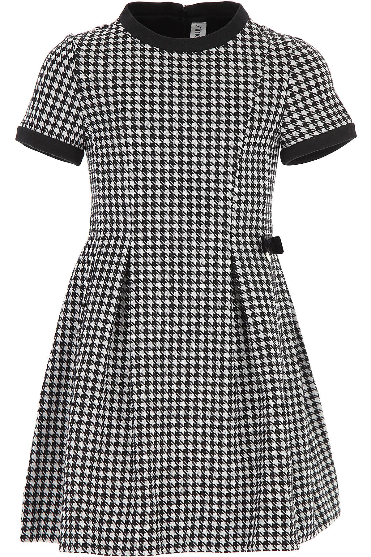 Image of Simonetta Girls Dress, Black, polyamide, 2017, 10Y 14Y 16Y 6Y 8Y