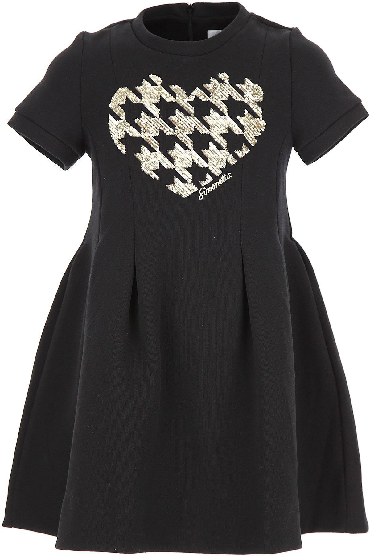 Image of Simonetta Girls Dress, Black, Cotton, 2017, 10Y 14Y 16Y 6Y 8Y