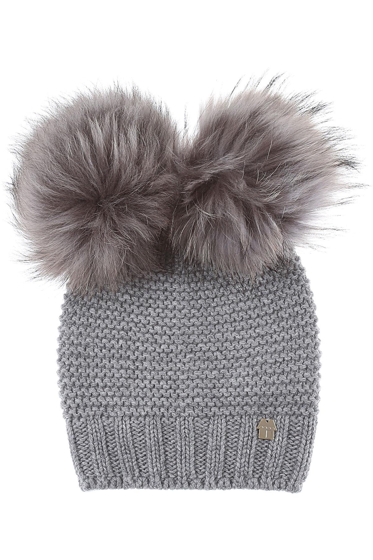 Simonetta Kids Hats for Girls On Sale, Grey, Wool, 2019, I II