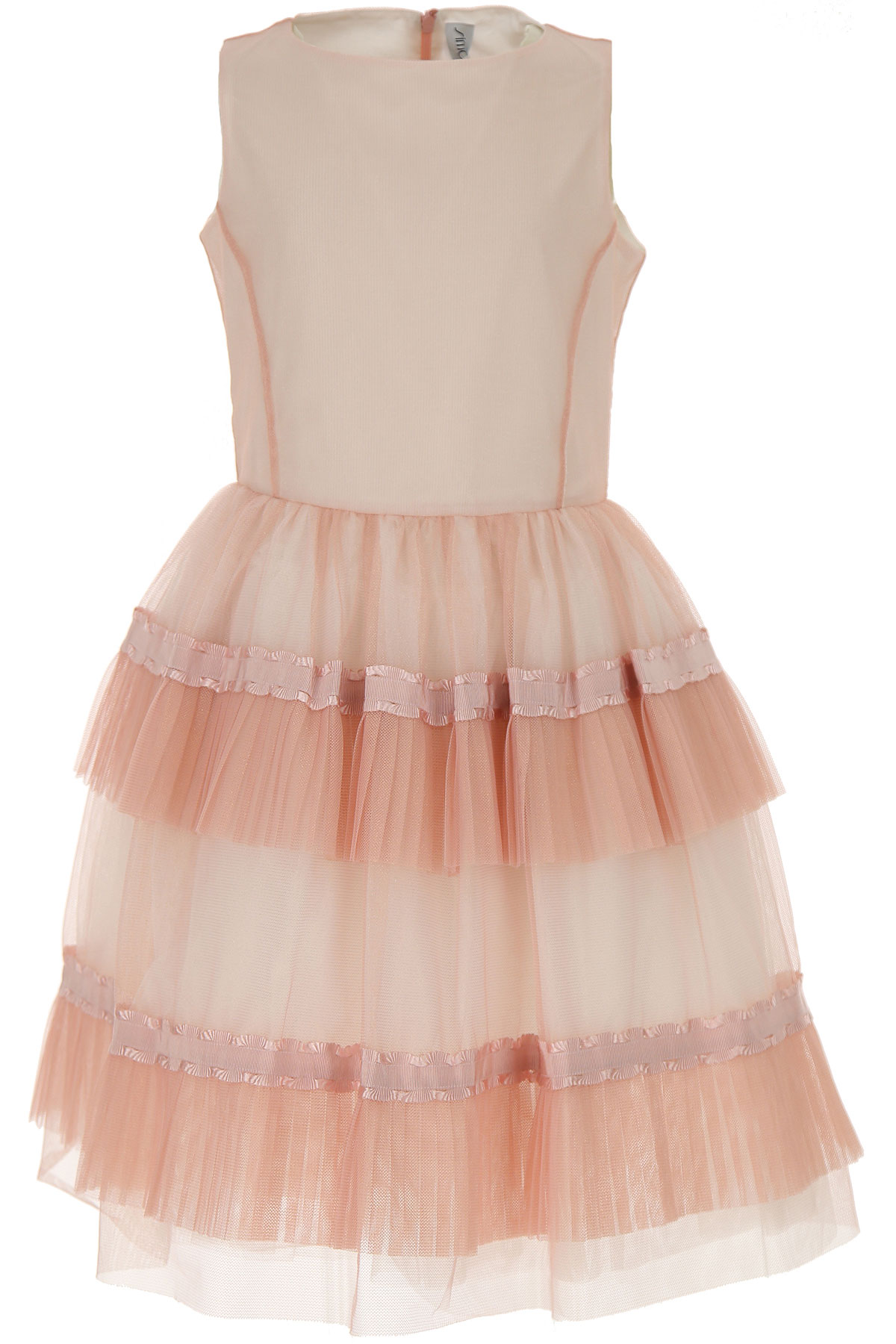 Simonetta Girls Dress On Sale, Powder Pink, polyamide, 2019, 10Y 12Y 8Y