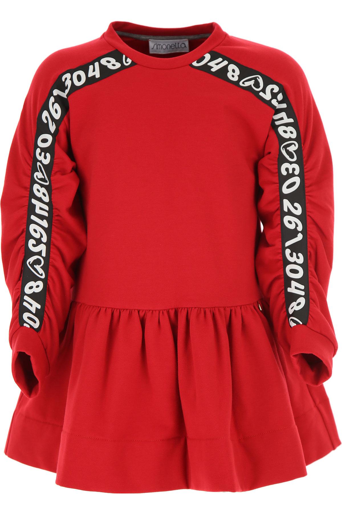 Simonetta Girls Dress On Sale, Red, Cotton, 2019, 2Y 4Y 6Y