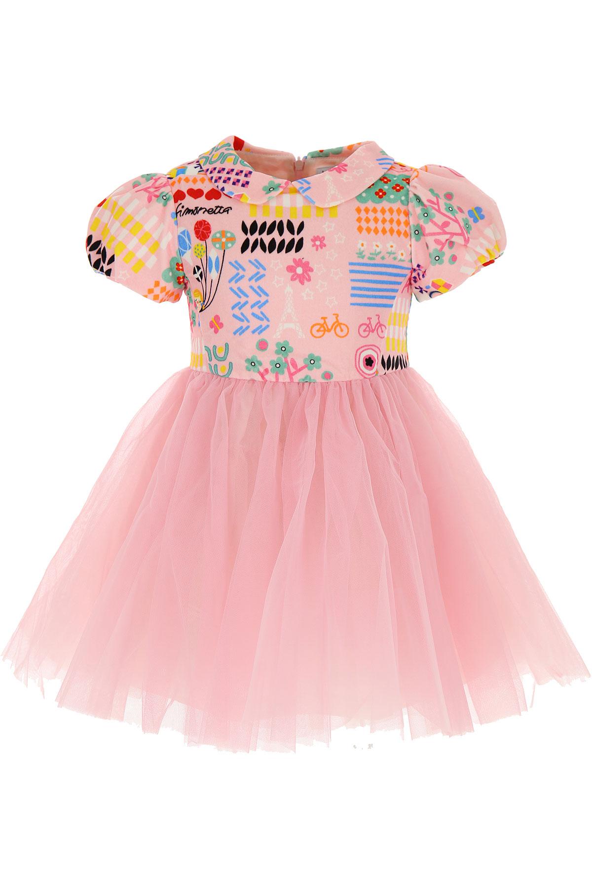 Simonetta Girls Dress On Sale, Pink, Cotton, 2019, 2Y 3Y