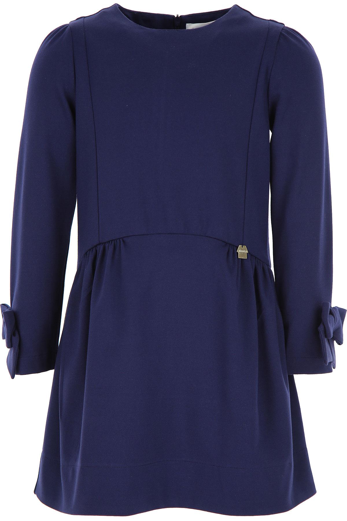 Simonetta Girls Dress On Sale, Dark Blue, Viscose, 2019, 2Y 3Y 4Y 6Y 8Y