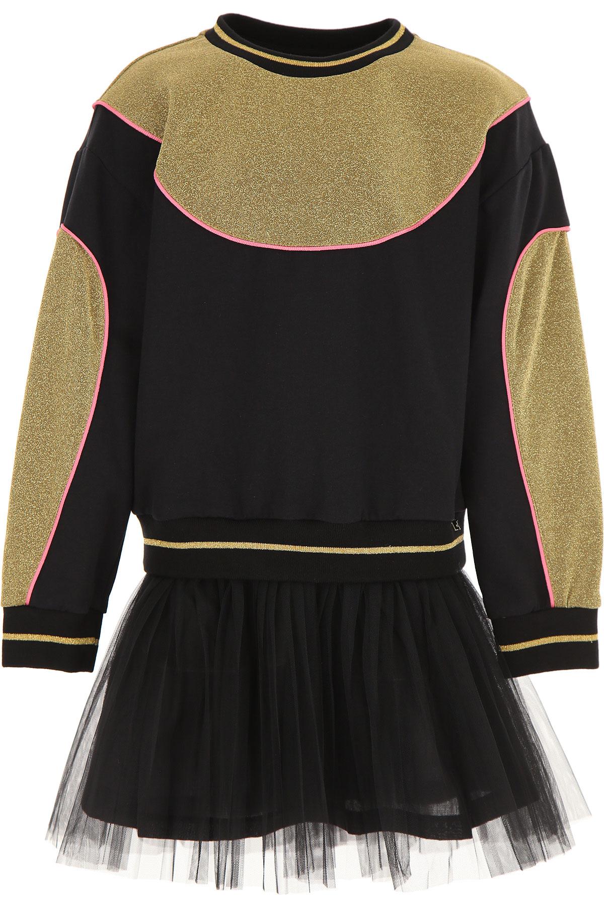 Simonetta Girls Dress On Sale, Black, Cotton, 2019, 4Y 6Y 8Y