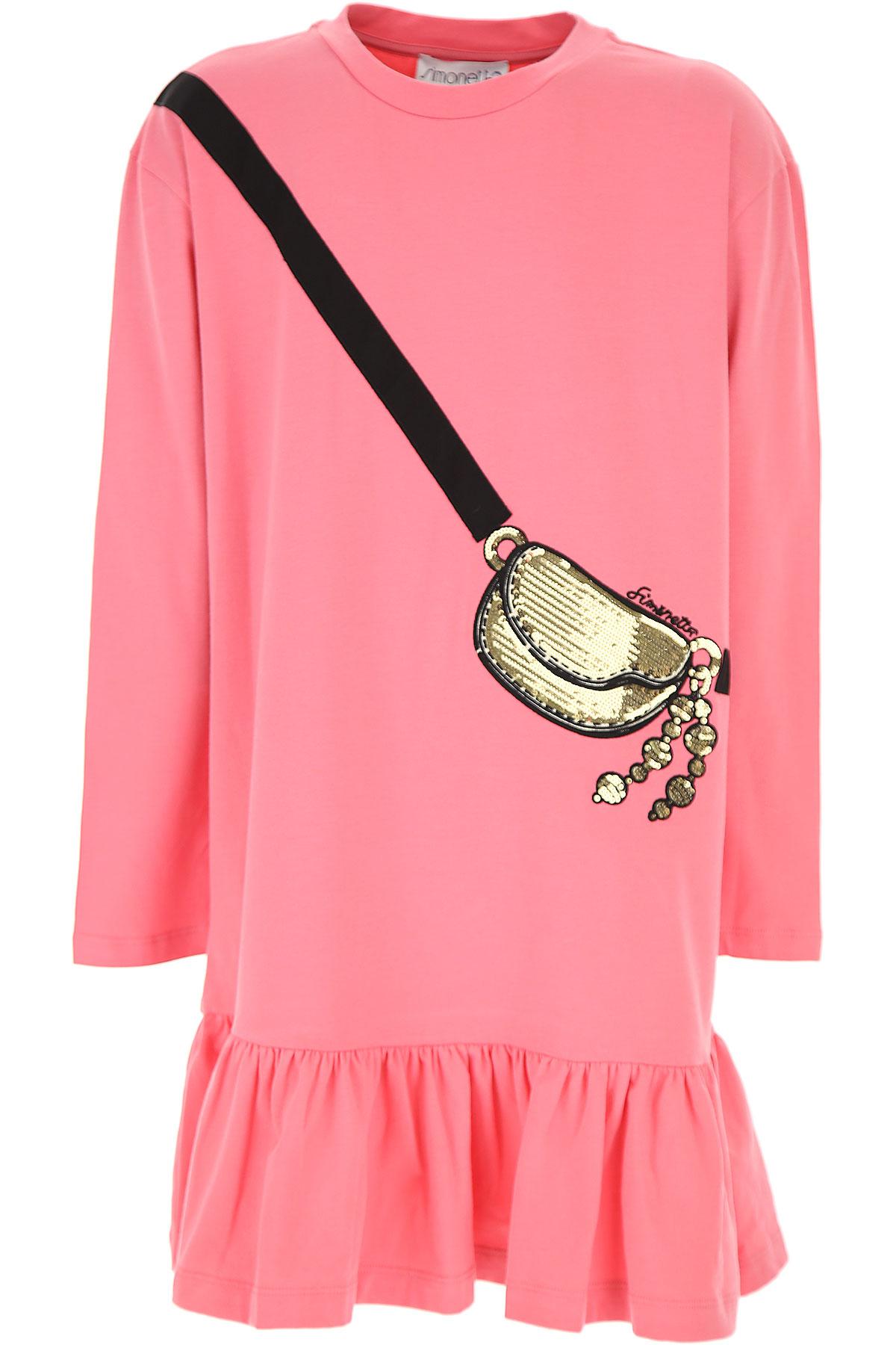 Simonetta Girls Dress On Sale, Pink, Cotton, 2019, 10Y 12Y 14Y 16Y 2Y 6Y 8Y