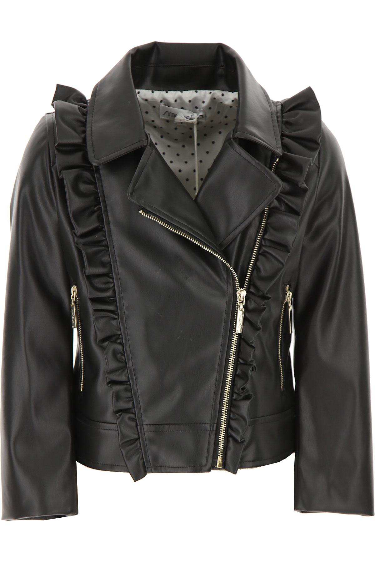 Simonetta Kids Jacket for Girls On Sale, Black, polyester, 2019, 10Y 12Y 14Y 16Y 6Y 8Y