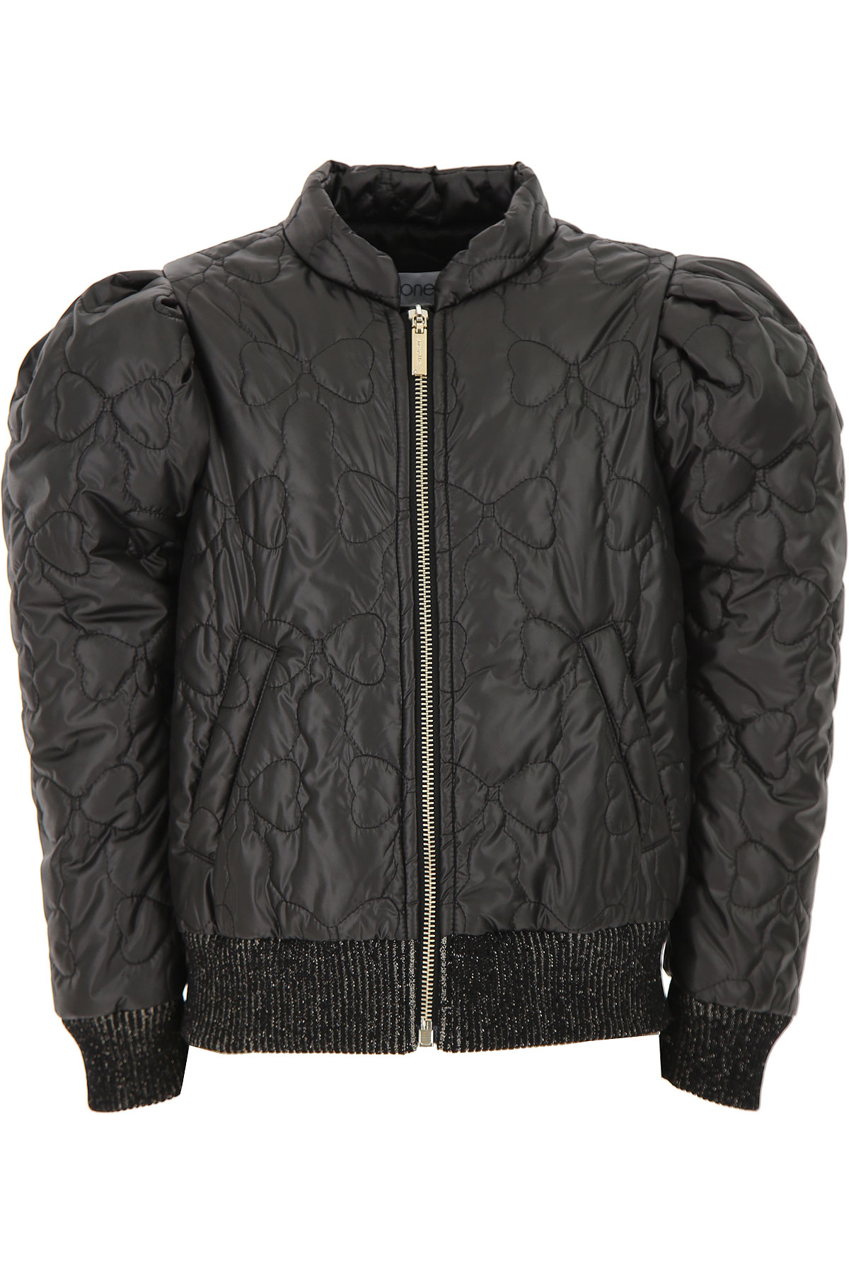 Simonetta Girls Down Jacket for Kids, Puffer Ski Jacket On Sale, Black, polyester, 2019, 10Y 6Y 8Y