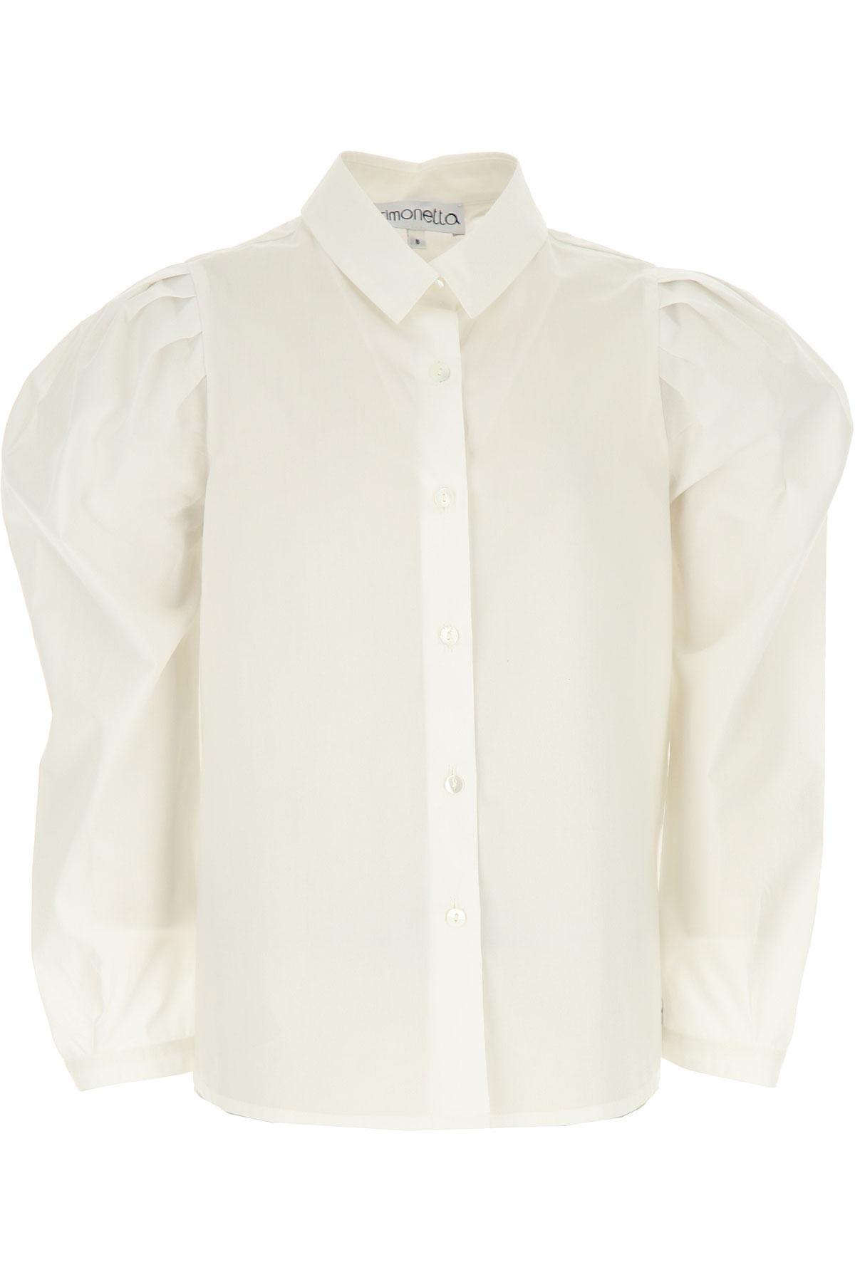 Simonetta Kids Shirts for Girls On Sale, White, Cotton, 2019, 10Y 12Y 14Y 4Y 6Y 8Y