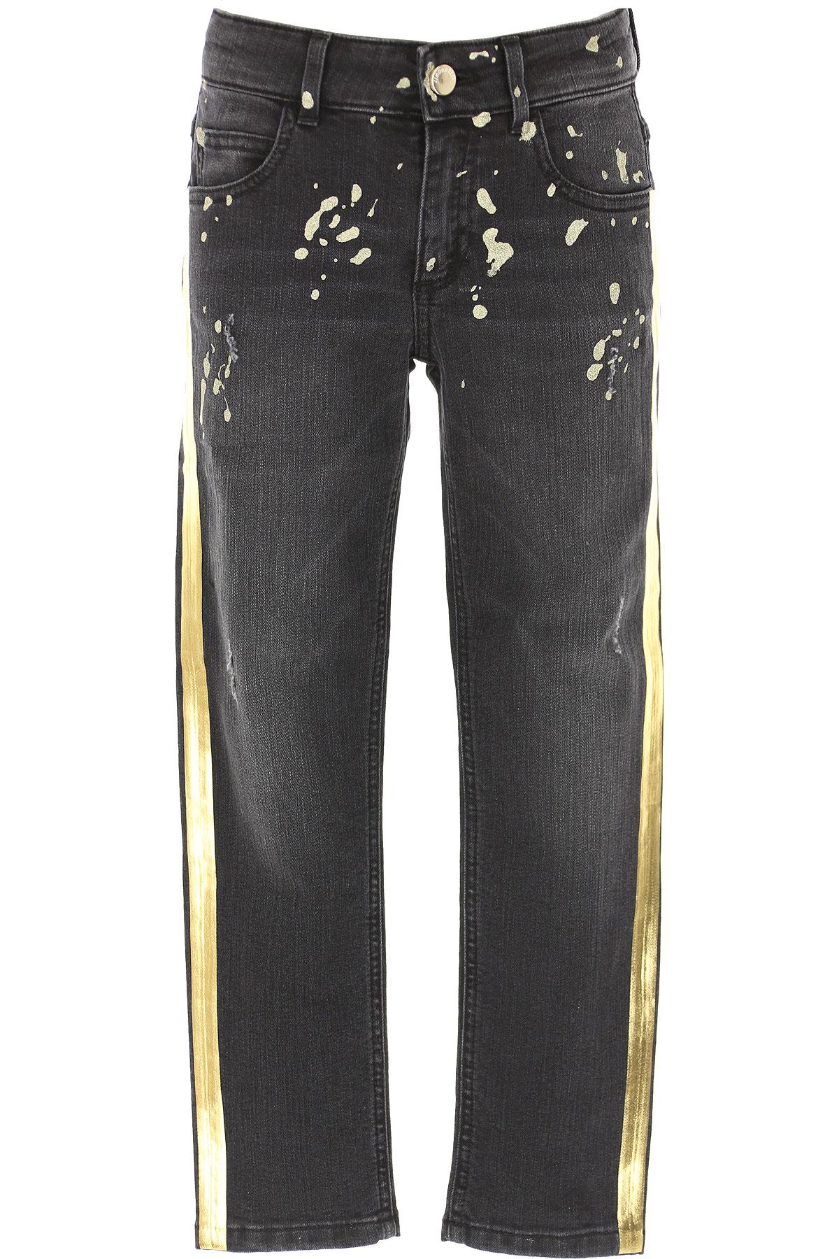 Simonetta Kids Jeans for Girls On Sale, Dark Grey Denim, Cotton, 2019, 10Y 12Y 6Y 8Y