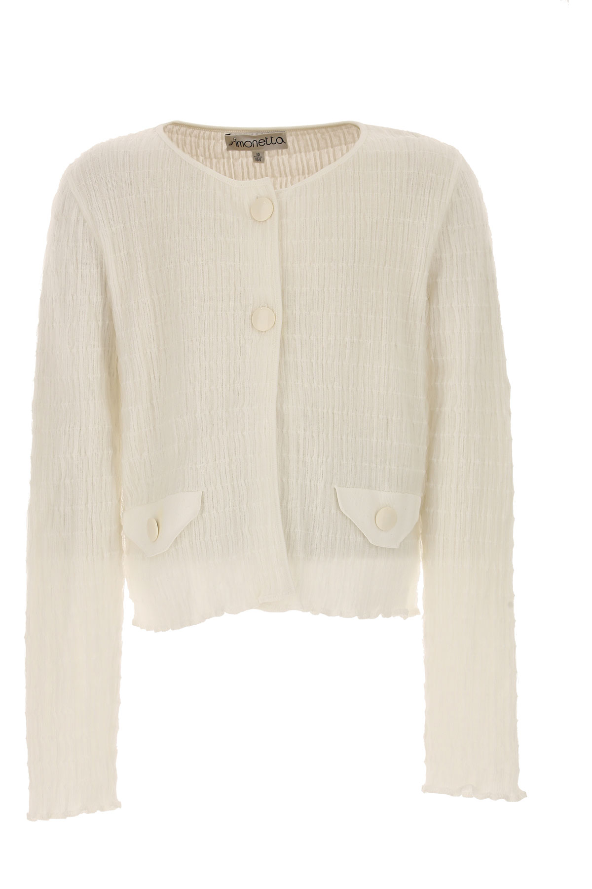 Image of Simonetta Kids Sweaters for Girls On Sale in Outlet, White, Cotton, 2017, 10Y 14Y