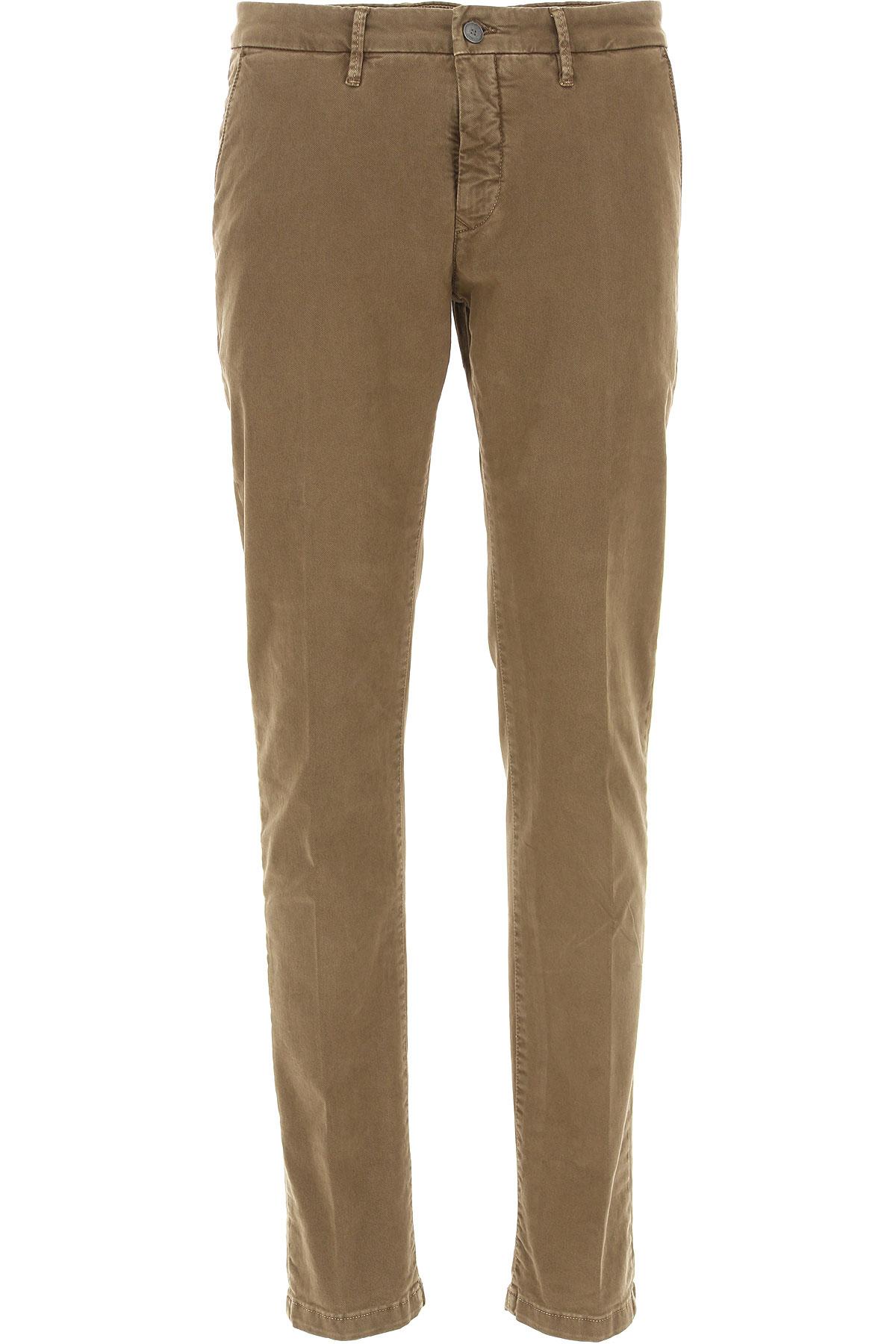 Image of Siviglia Pants for Men, Brown, Cotton, 2017, 32 33 34 35 36