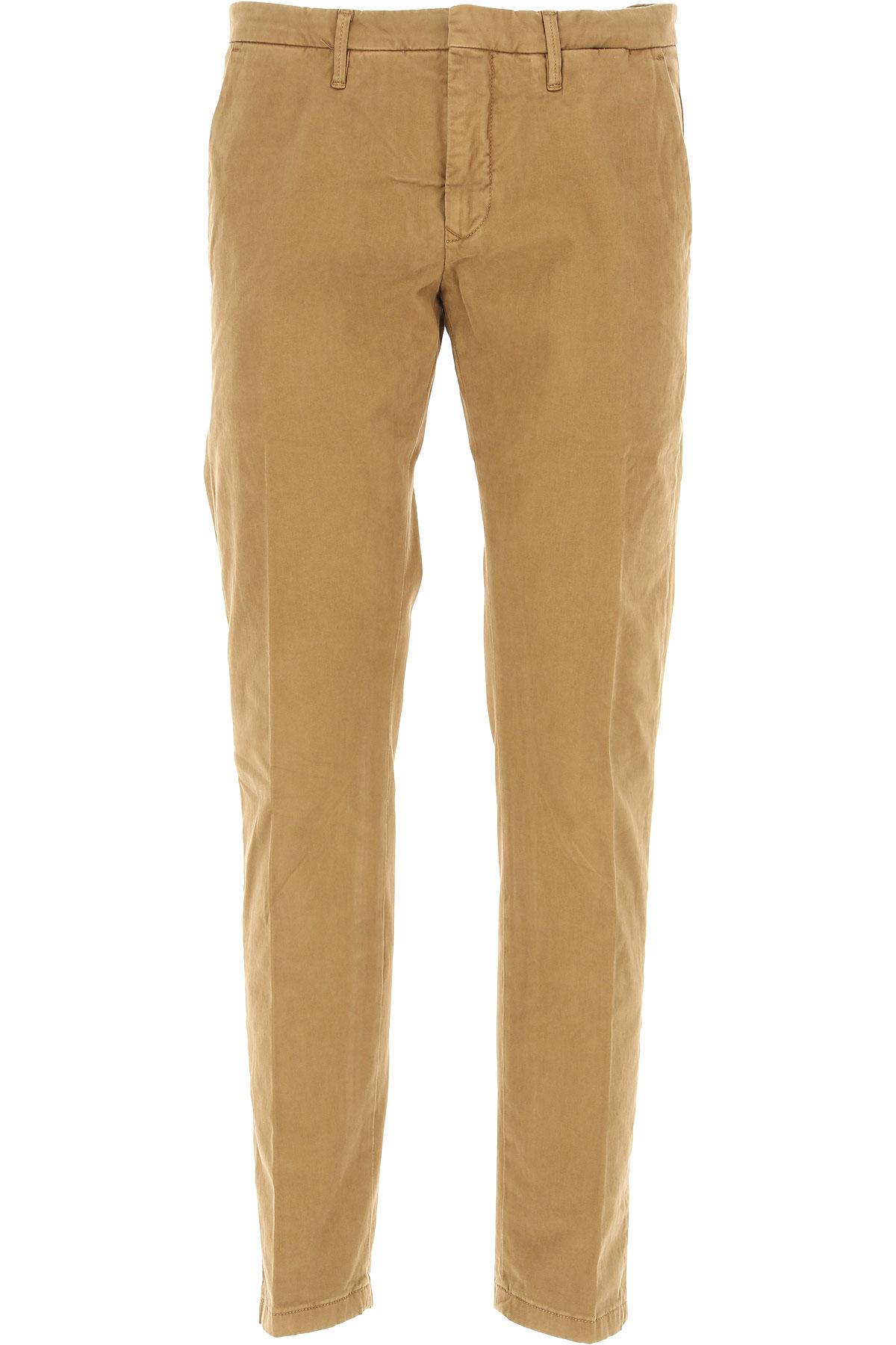 Siviglia Pants for Men On Sale, Camel, Cotton, 2017, 31 34 35