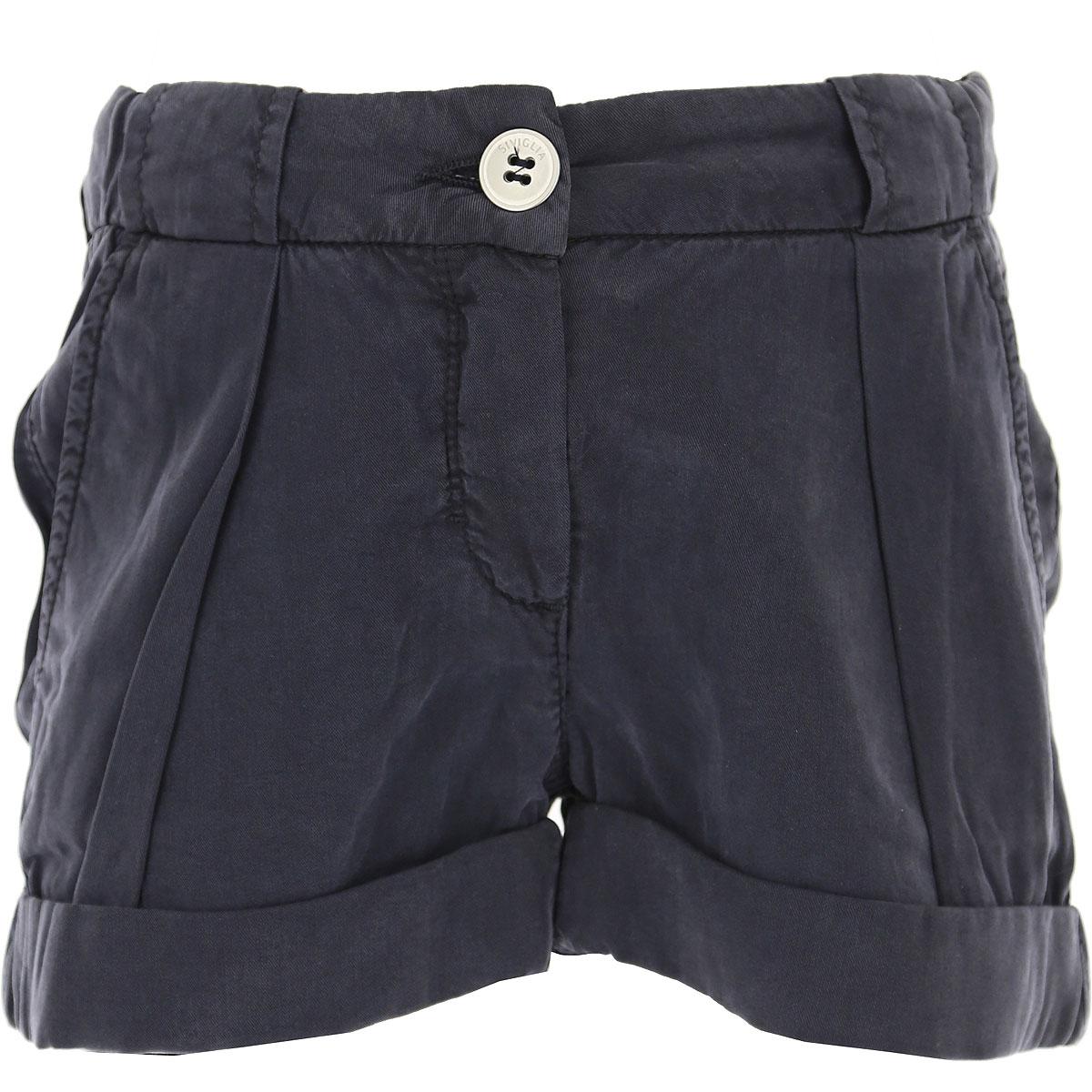 Siviglia Kids Shorts for Girls On Sale in Outlet, Blue, tencel, 2019, 2Y 4Y 5Y 6Y 7Y