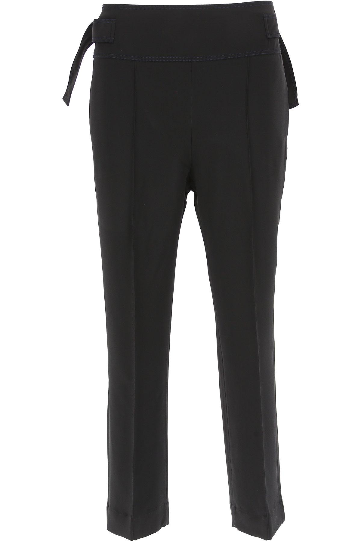 Image of SportMax Pants for Women, Black, viscosa, 2017, 24 26 28