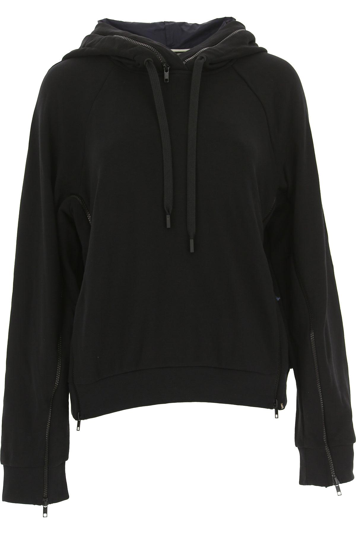 Image of SportMax Sweatshirt for Women, Black, Cotton, 2017, 4 6 8