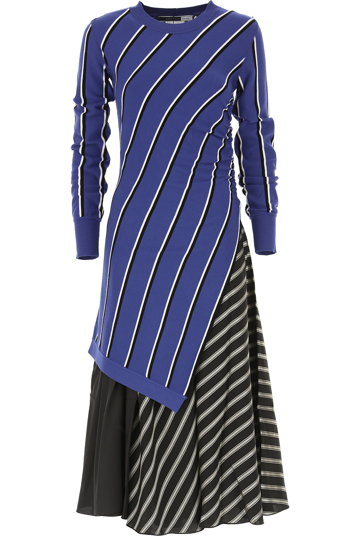 Image of SportMax Dress for Women, Evening Cocktail Party, Bluette, Viscose, 2017, 4 6 8