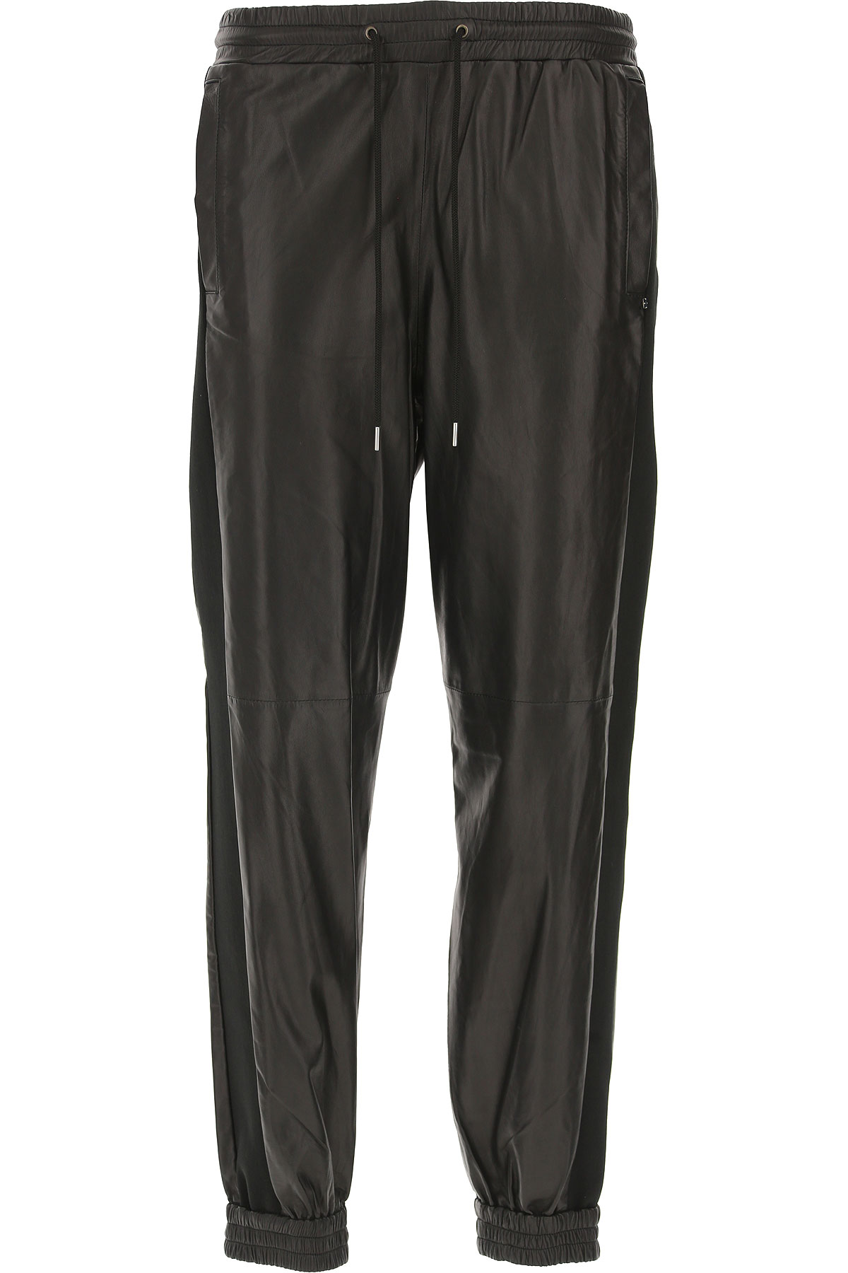 Image of SportMax Pants for Women, Black, Leather, 2017, 26 28 30