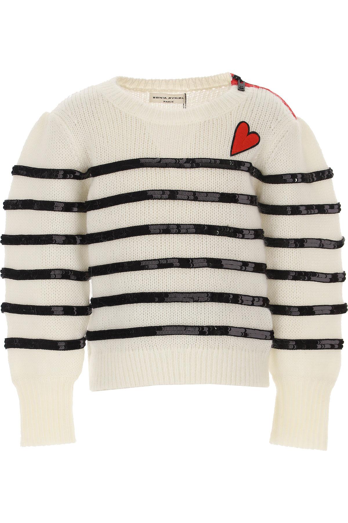 Sonia Rykiel Kids Sweaters for Girls On Sale, White, Nylon, 2019, 10Y 12Y 14Y 6Y 8Y