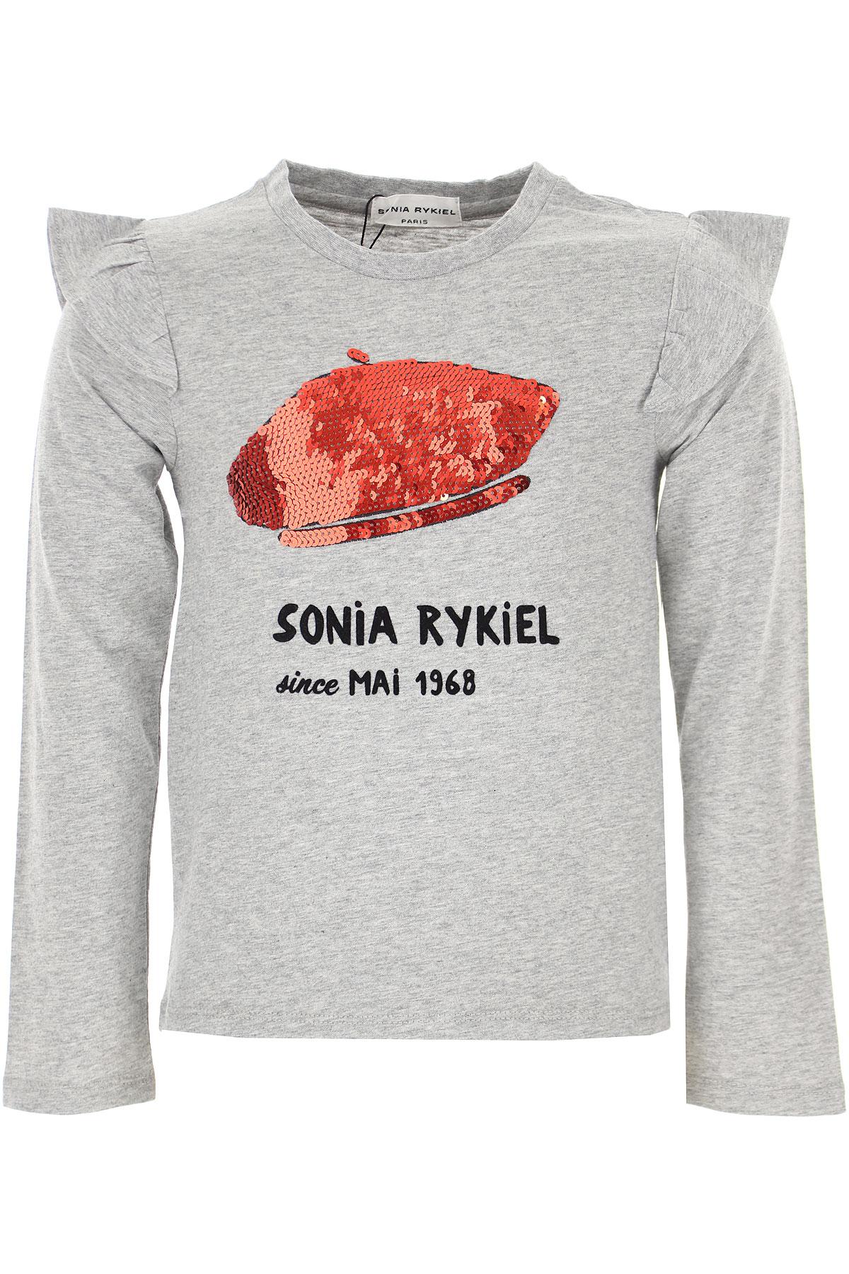 Sonia Rykiel Kids T-Shirt for Girls On Sale, Grey, Cotton, 2019, 10Y 12Y 14Y 6Y 8Y