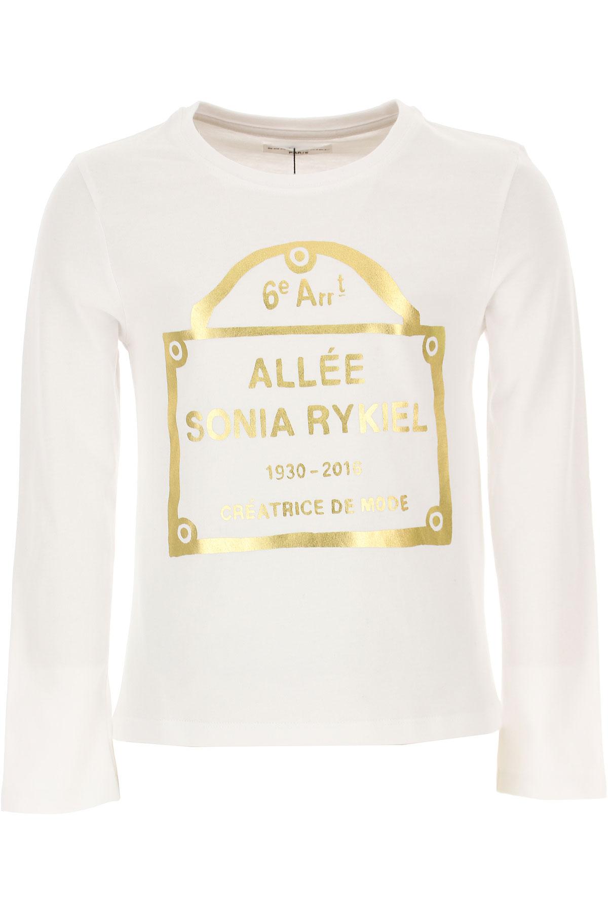Sonia Rykiel Kids T-Shirt for Girls On Sale, White, Cotton, 2019, 10Y 14Y 6Y 8Y