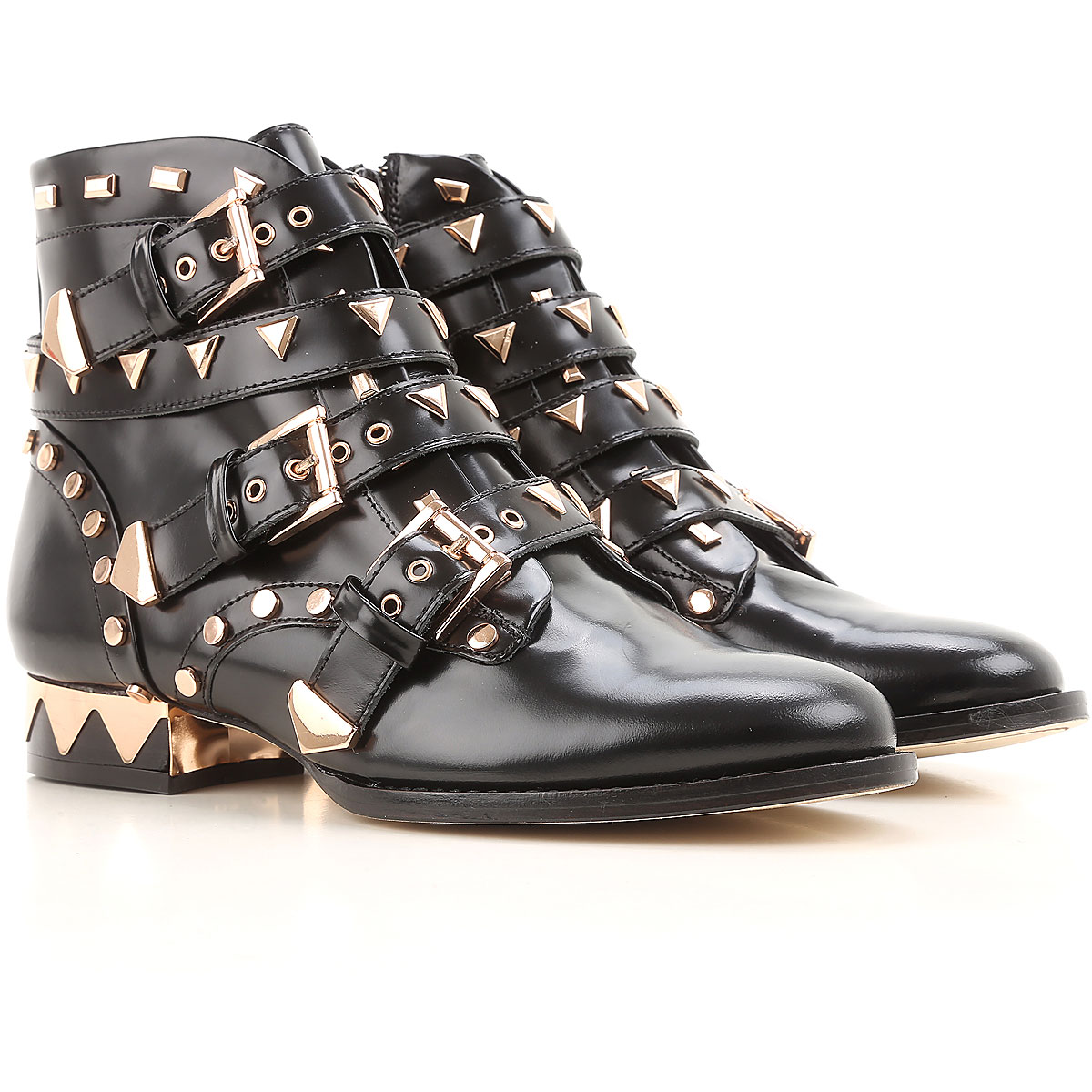 Image of Sophia Webster Boots for Women, Booties On Sale in Outlet, Black, Leather, 2017, 10 6 8.5