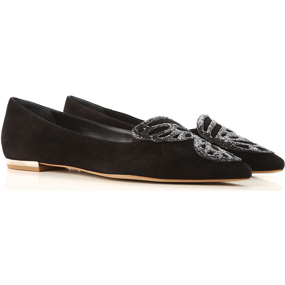 Image of Sophia Webster Ballet Flats Ballerina Shoes for Women, Black, Suede leather, 2017, 5 5.5 7 8 8.5