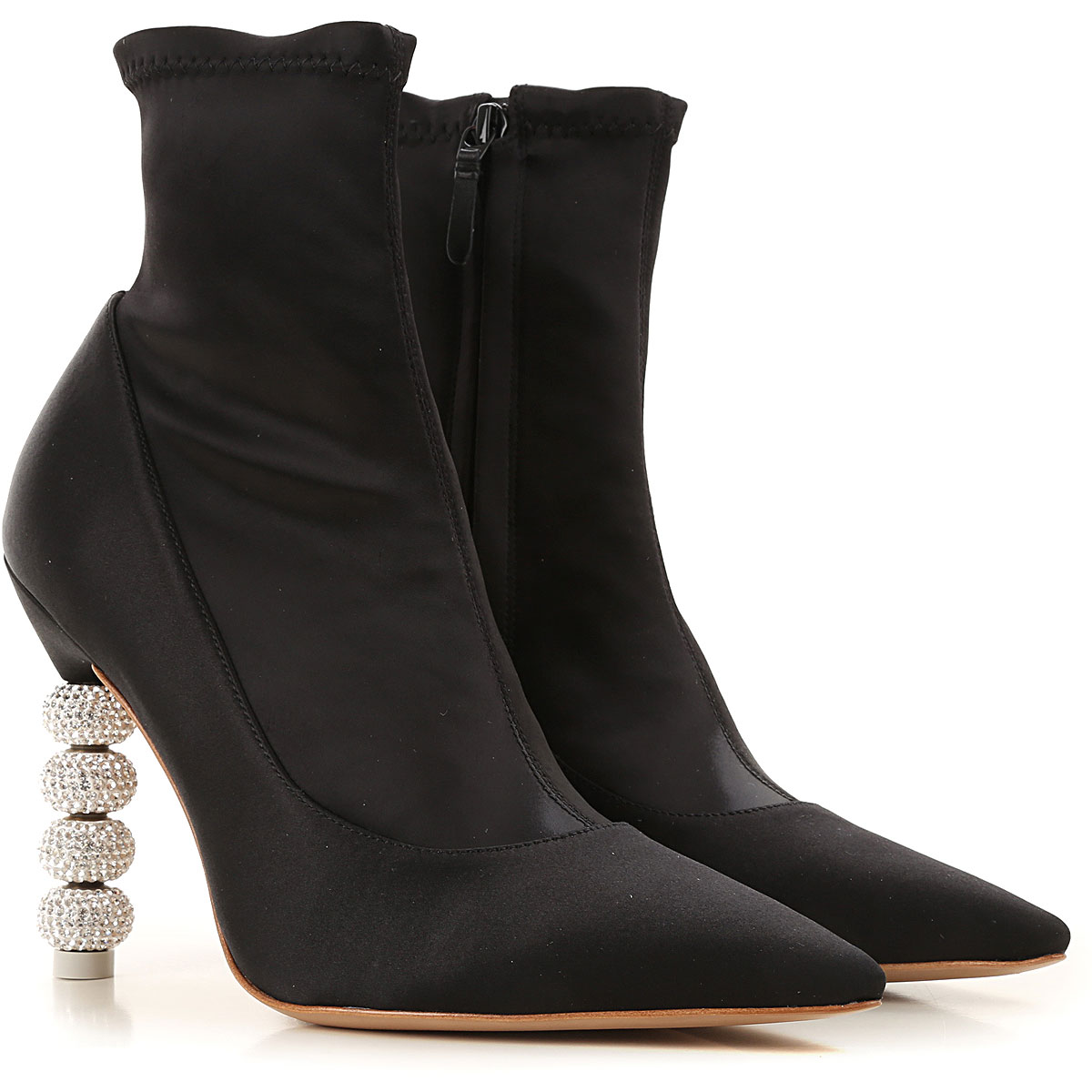 Sophia Webster Boots for Women, Booties On Sale in Outlet, Black, satin, 2019, 10 8 8.5