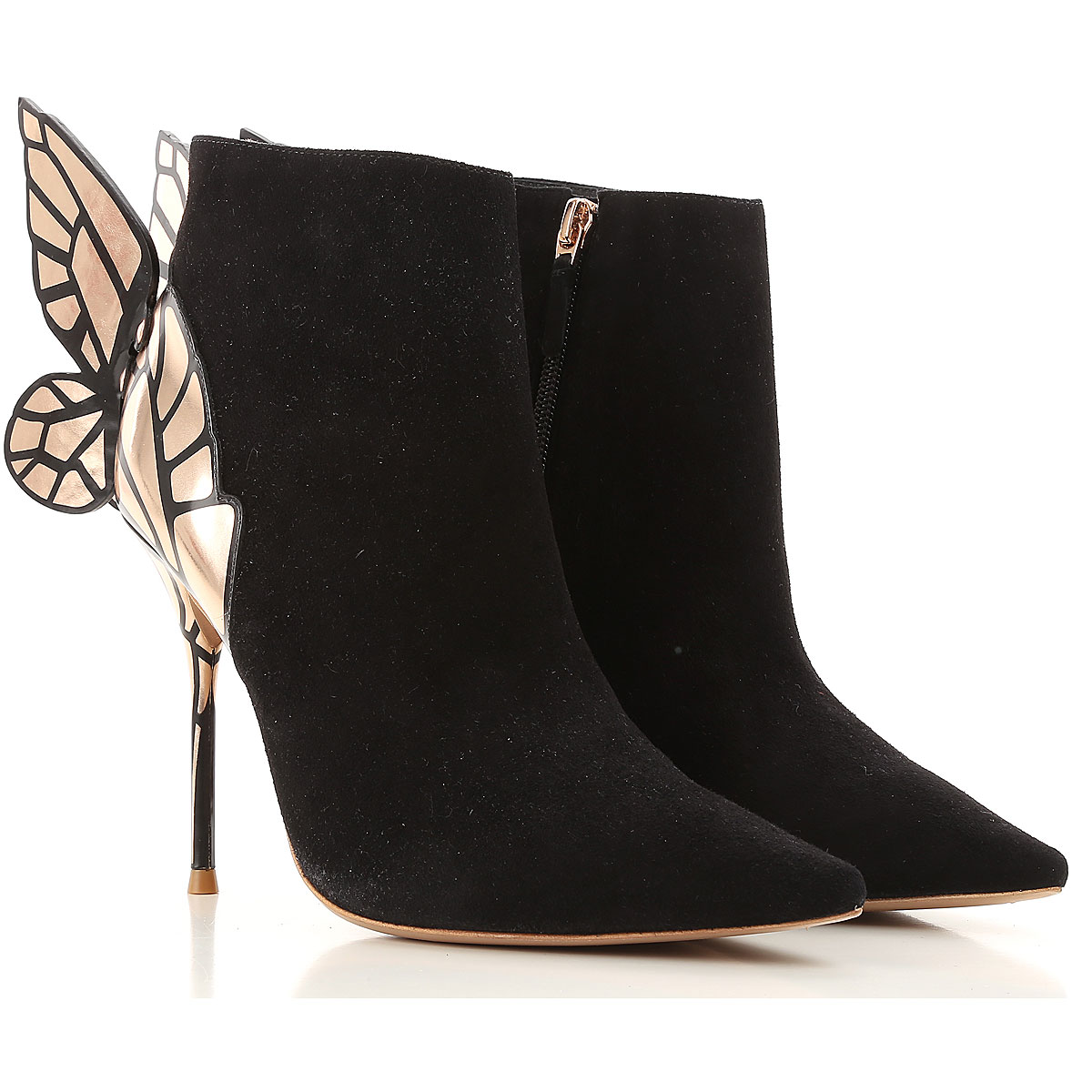 Image of Sophia Webster Boots for Women, Booties On Sale in Outlet, Black, Suede leather, 2017, 5 6