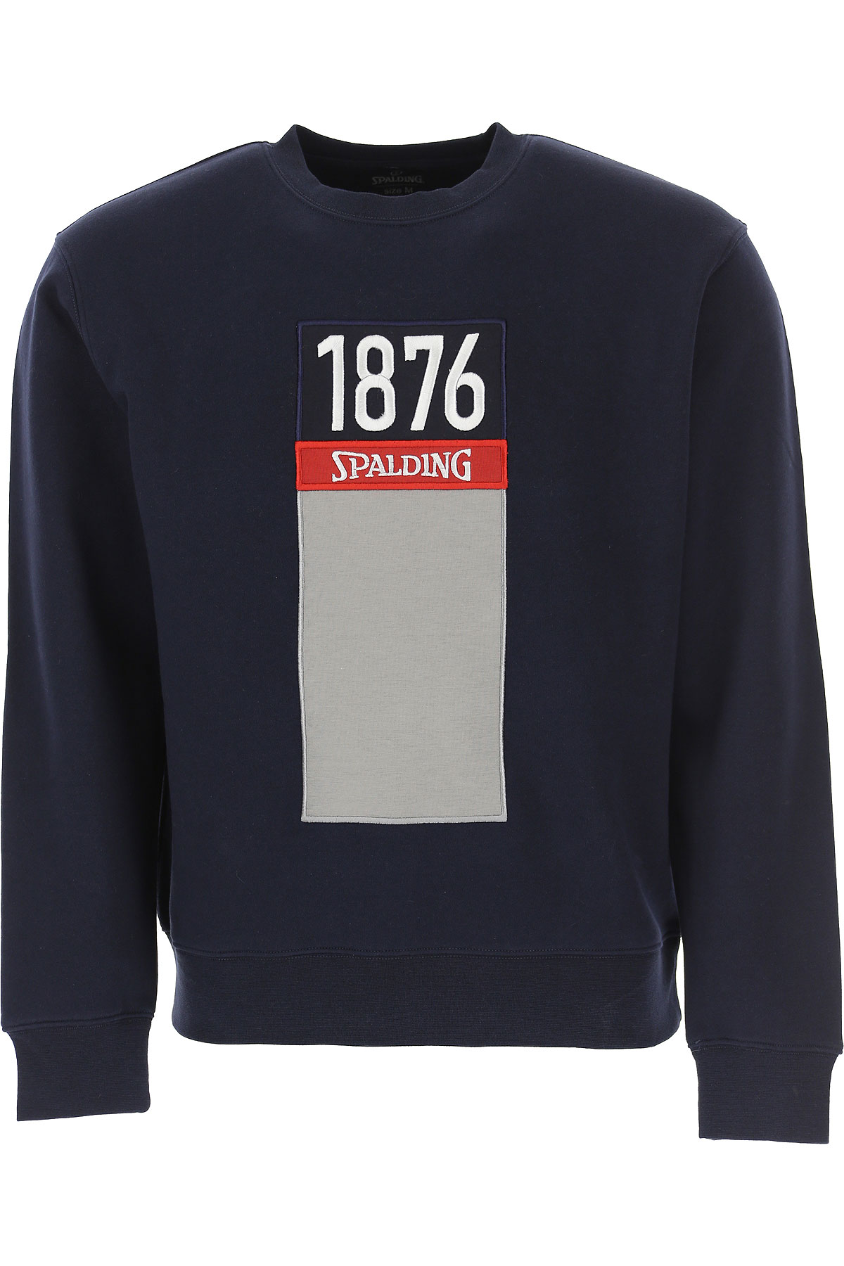 Spalding Sweatshirt for Men, Navy Blue, Cotton, 2019, L XL XXL