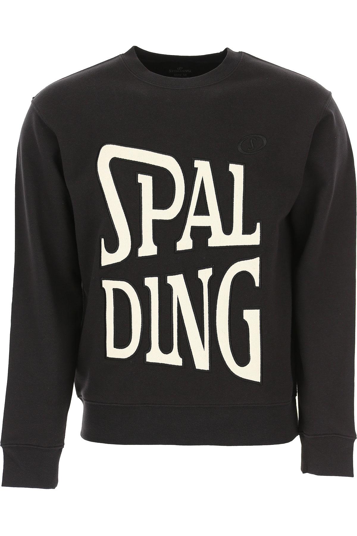 Spalding Sweatshirt for Men, Black, Cotton, 2019, M XL XXL