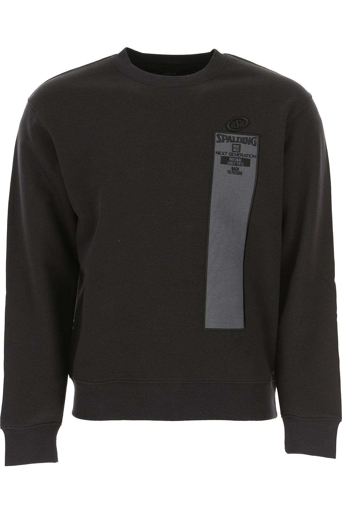 Spalding Sweatshirt for Men On Sale, Black, Cotton, 2019, L XL XXL