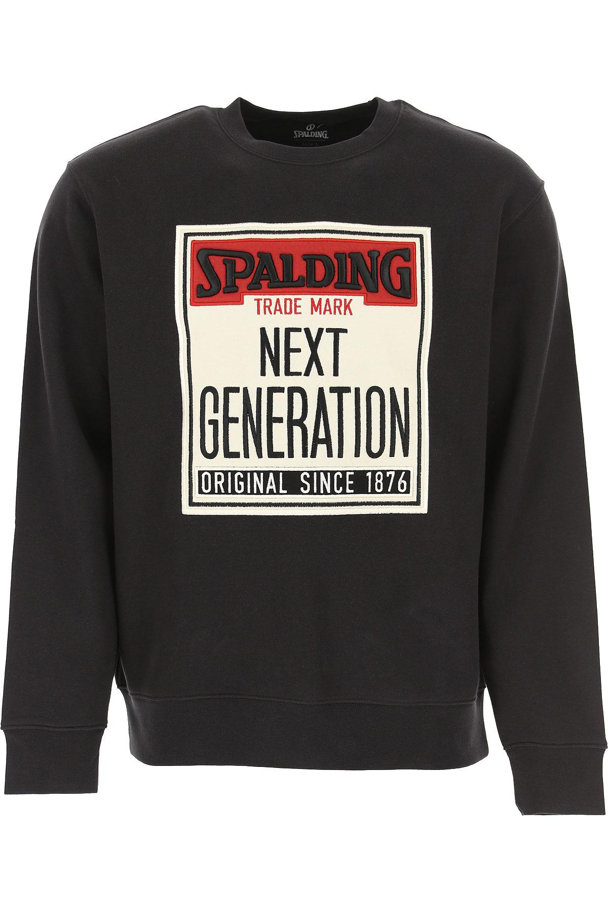 Spalding Sweatshirt for Men On Sale, Black, Cotton, 2019, L M S XL XXL