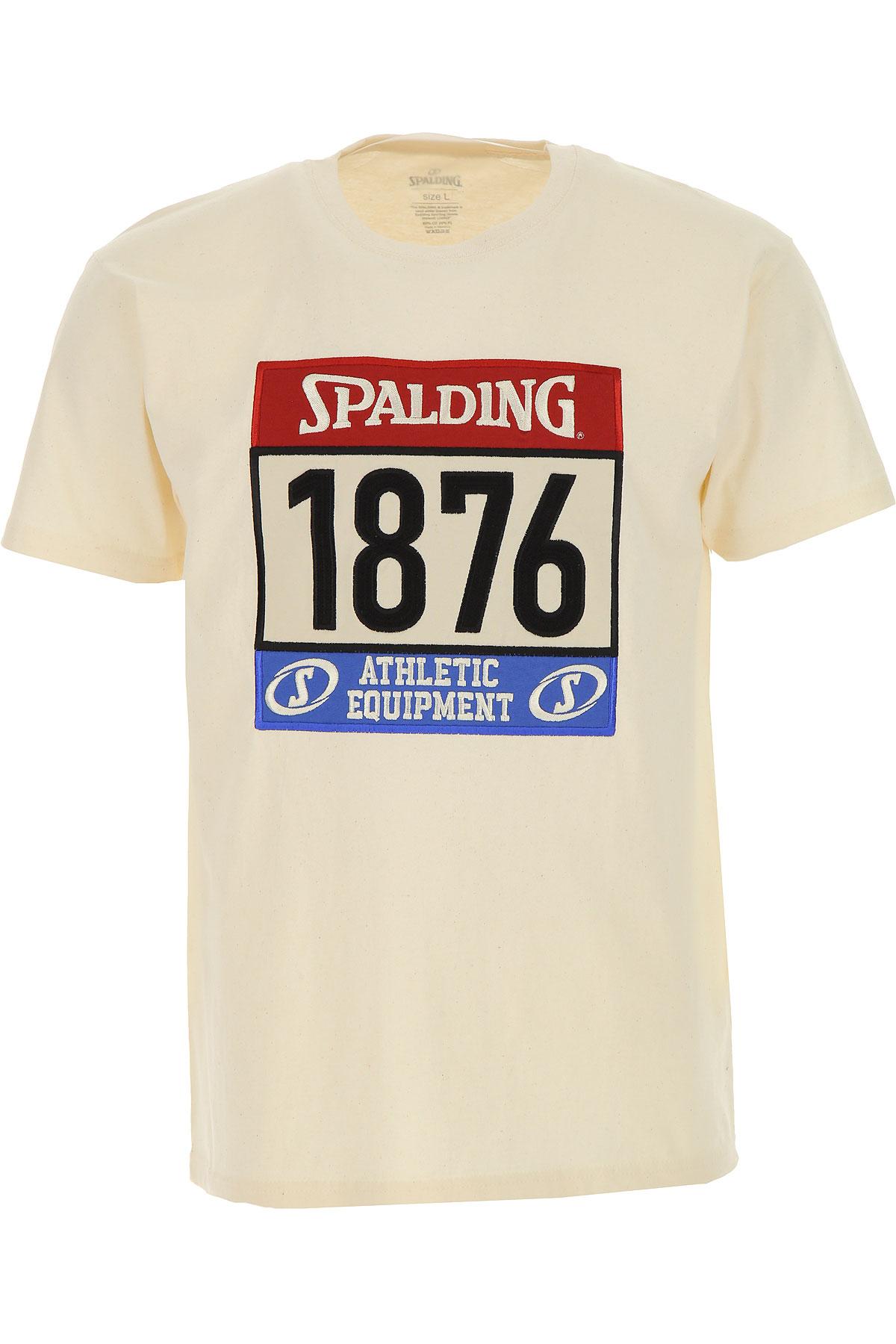 Spalding T-Shirt for Men On Sale, White, Cotton, 2019, L M S XL XXL