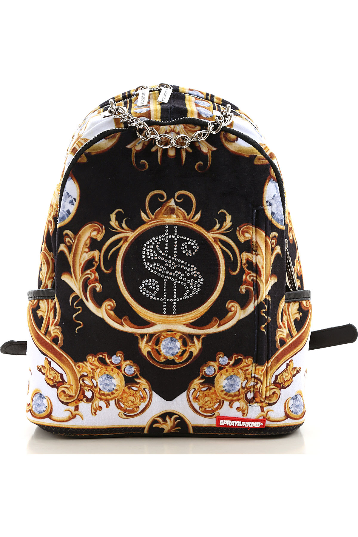Sprayground Backpack for Men On Sale, Black, polyurethane, 2019