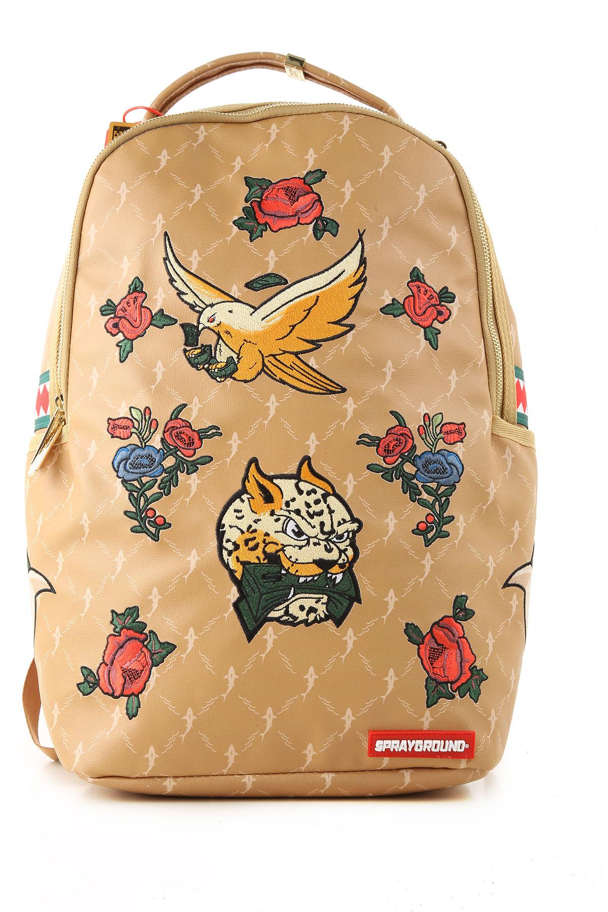 Sprayground Backpack for Men On Sale, Caramel, PVC, 2019