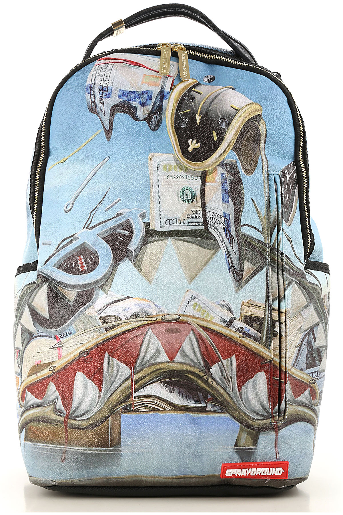 Sprayground Backpack for Men On Sale, Sky, Coated Canvas, 2019