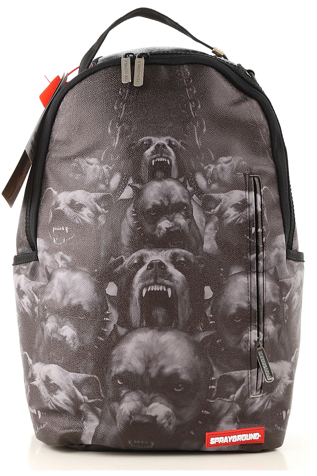 Sprayground Backpack for Men On Sale, Black, polyestere, 2019